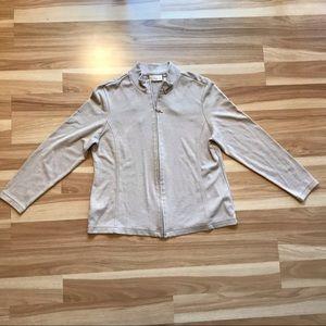 Worthington used zip jacket cardigan oatmeal